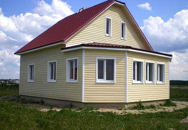 Обшивка дома сайдингом, фото домов Самара, Тольятти