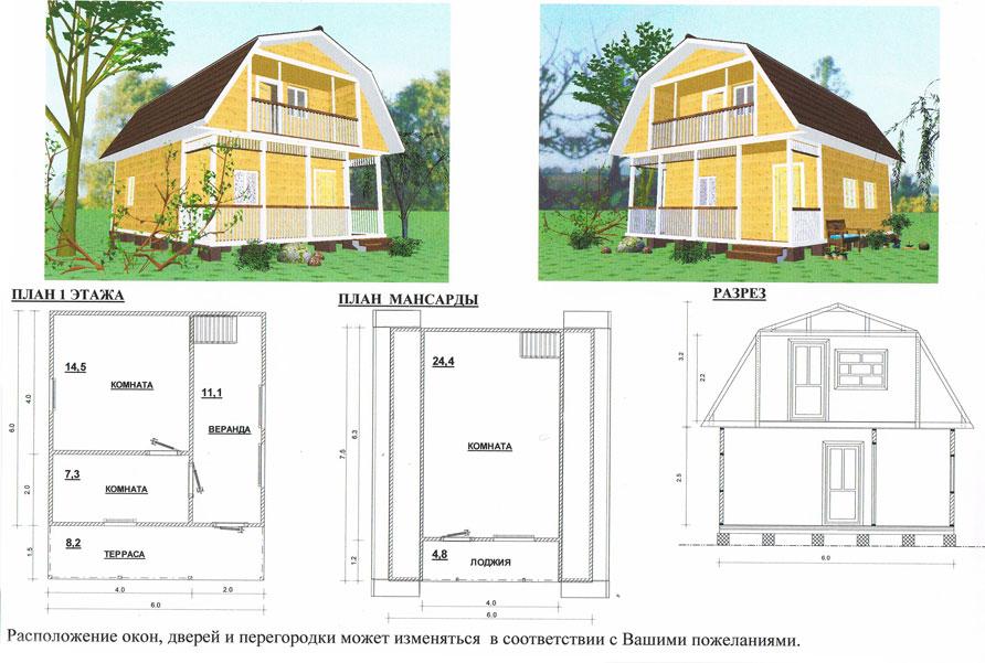 Сделать проект дачного домика своими руками 47